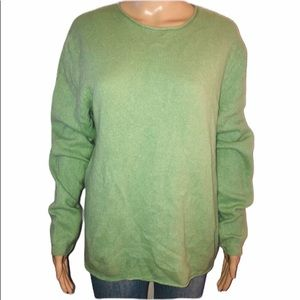 Theory mint green cashmere sweater